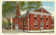 Beardstown, Former courthouse site, Built 1844, Arch- Thomas Beard, Contr- B. W. Schneider