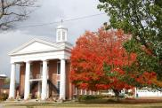 *Knoxville, Former courthouse site, Built 1840, Arch- John Mandeville, Contr- Alvah Wheeler & Zelotes Cooley