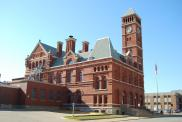 *Keokuk, Present courthouse, Converted 1889 Federal Post Office, Arch- M. E. Bell