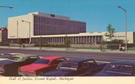 Grand Rapids, Hall of Justice, Built 1967, Arch- Bryon & Nacthegall, Contr- Owen, Ames, Kimball, Razed 2002