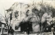 Lake City, Built 1883 on fire, 1944