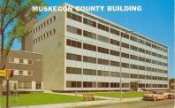 Muskegon, Michael E. Kobza Hall of Justice, Built 1960, Arch- Magnuson & Sumner, O. J. Munson Assoc., Contr- Herlihy Mid-Continental Co.