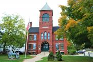 *Plymouth, Built 1889, Arch- C. Willis Damon, Contr- Emerson (Current town hall)