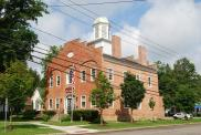 *Ellicottville, Former courthouse site, Built 1829, Arch/Contr- William Stillwell, Andrew Mead and Abner Chase