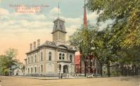 Hudson Falls (formerly Sandy Hill, changed 1910), Courthouse built 1873, Arch- Marcus Cummings